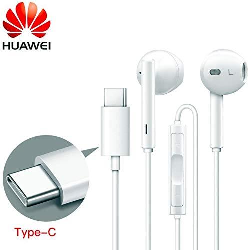 Genuine White Huawei (CM33) 55030088 Headphones Type C for Huawei Porsche/Mate 20 Pro/Honor Magic 2 / Note 10 / Nova 4…