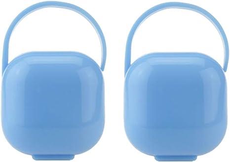 HEALLILY 2 Piezas Portachupetes Portátiles Cajas de Chupete Contenedores de Almacenamiento de Chupete para Bebé Niño Infante (azul): Amazon.es: Bebé