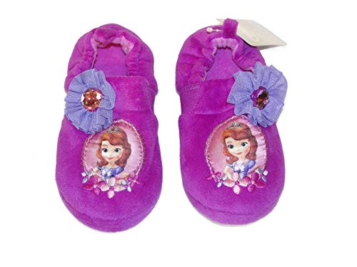 Sofia The First Girl's Size 13/1 Purple Velour Fleece Slippers -