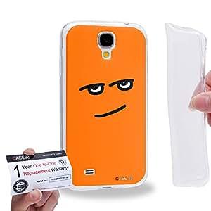 Case88 [Samsung Galaxy S4] Gel TPU Carcasa/Funda & Tarjeta de garantía - Art Fashion Smart Kawaii Emoticon Edition 1366