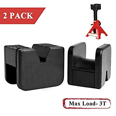 Floor Jack Pad Adapter Universal Slotted Frame Rubber Frame Rail Protector Pinch Weld Protector(2 Pack)