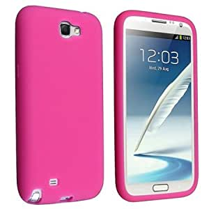 Viesrod - For Samsung GALAXY Note II N7100 Soft Silicone SKIN Protector Cover Case Pink