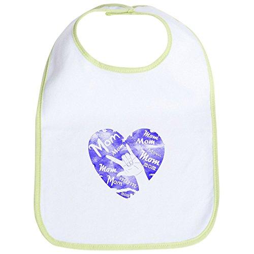 CafePress - LOVE MY MOM - ASL Bib - Cute Cloth Baby Bib, Toddler Bib ()