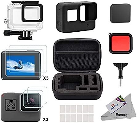 deyard accessories kit for gopro hero 7(only black) hd(2018) 6 5 with shockproof small case waterproof case screen protector bundle for gopro hero 7 decorative kitchen accessories 5 accessories #7