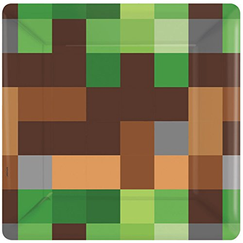 Minecraft 'TNT Party' Small Paper Plates (8ct) (8 Party Plates)
