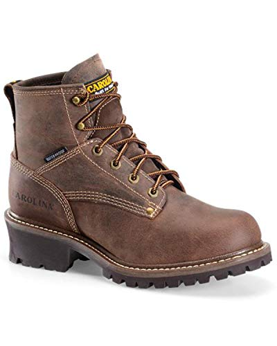 Toe Logger D Waterproof Carolina Men's Brown Work 8 Boot Round Dark 5 EqOHYZ
