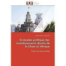 ECONOMIE POLITIQUE DES INVESTISSEMENTS DIRECT