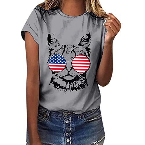 TUSANG Women Tees Plus Size Love Gesture Print Short Sleeve T-Shirt Tops Round Collar Slim Fit Comfy Tunic(Gray,US-14/CN-3XL)