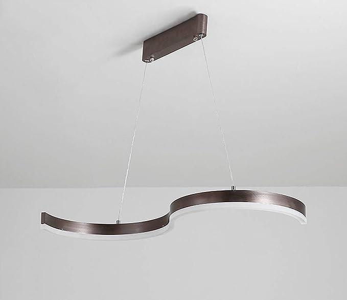 LED suspensión café Design para mesa Barra ondulado lámpara ...