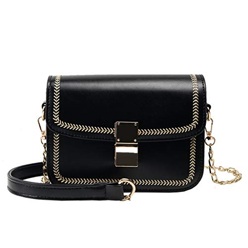 Womens Fashion Retro Flap Bag Patent Leather Crossbody Phone Bag Shoulder Bag Hand Bag Black