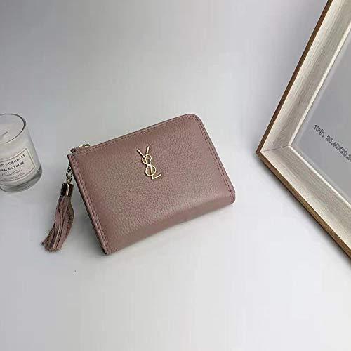 Pink YOIOY Envelope Clutch Bag Autumn New Mini Purse Female Zipper Ladies Short Korean Version of The Cute Handheld Wallet (color   Pink) (color   Pink)