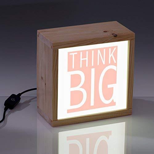 "Lightbox con frase, caja de luz decorativa""Think big"", ..."