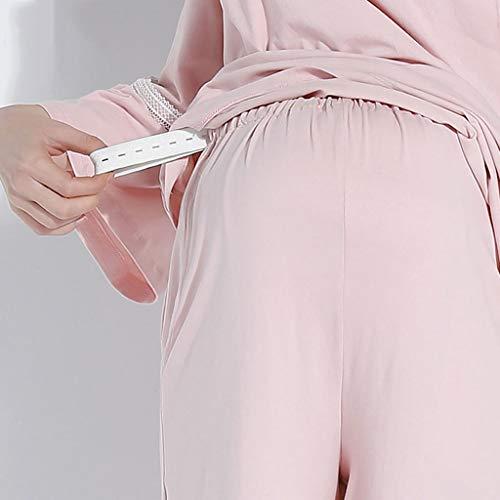 Ropa Embarazadas Rosa De Embarazo Dormir Lactancia Mujeres Invierno Materna Pieza Pink Homedressing Pijamas Suelta Una Camisones Algodón Regalo Oscuro zqYpxp