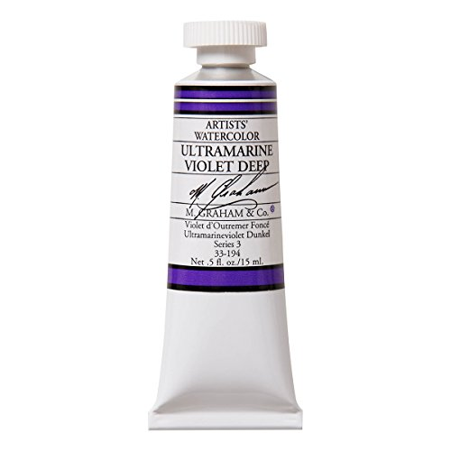 M. Graham 1/2-Ounce Tube Watercolor Paint, Ultramarine Violet Deep by M. Graham & Co.
