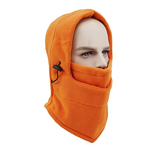 Koolip Windproof Fleece Thick Ski Mask,Winter Cold Weather Warm Blaclava Hood Neck Gaiter Hat for Women Men Skiing Cycling Snowboarding ()