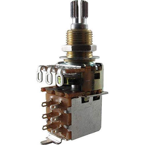Split Shaft Audio Taper Push/Pull Potentiometer ()