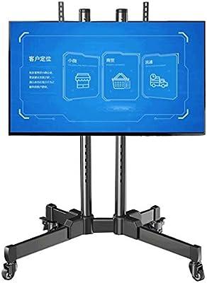 TV Stand YX Estante de TV Universal para Carro de Estante de TV de pie de 32-70 Pulgadas, sin Bandeja Debajo de la Bandeja Estante móvil de TV LCD Mesas para TV: