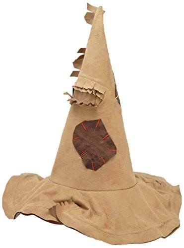 Forum Novelties Women's Tattered Fabric Witch Costume Hat, Brown, One Size]()