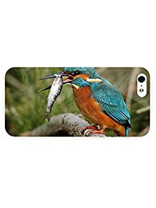 3d Full Wrap Case for iPhone 5/5s Animal Bird Catching A Fish