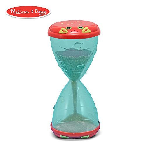 (Melissa & Doug Sunny Patch Clicker Crab Hourglass and Funnel Sand and Water Toy)