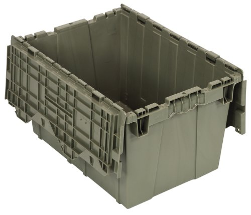 Quantum QDC2115-12 Plastic Storage Container with Attached Flip-Top Lid, 21