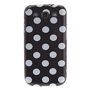 Dots Hard Protective Phone Back Case Cover + Car Charger for Samsung Galaxy S3 i9300 --- COLOR:White