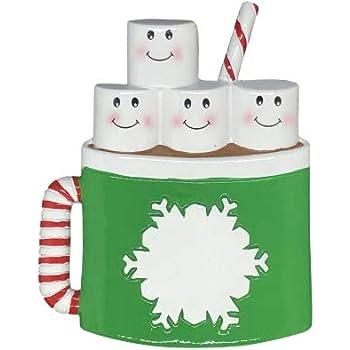 Amazon.com: Marshmallow Mug Family of 4 Personalized ...