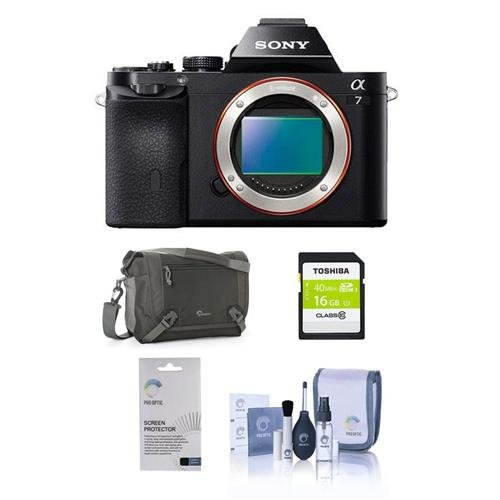 Sony Alpha A7 Digital Camera, Full Frame 24MP. Value Kit wit