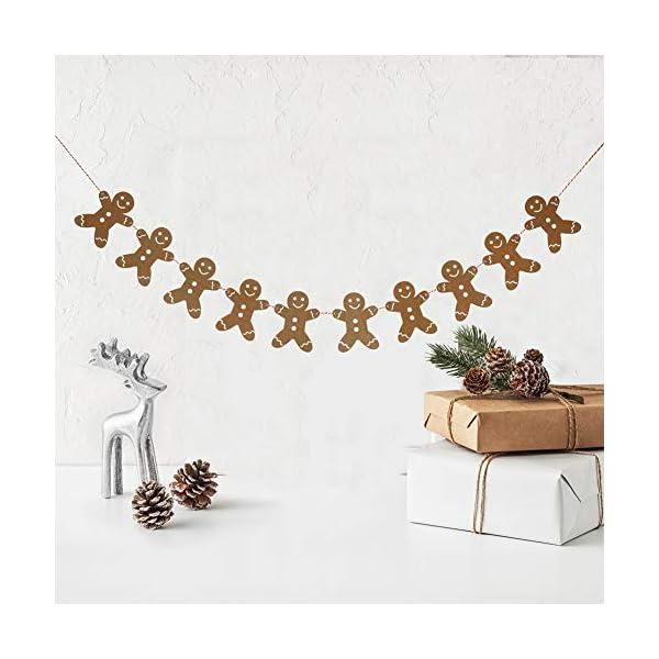 Heaven Sends Legno Gingerbread Man Ghirlanda Natalizia Decorazione, 2M 5 spesavip