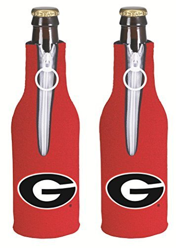 NCAA College 2014 Team Logo Color Bottle Suit Holder Holder Koozie Cooler 2-Pack (Georgia Bulldogs) ()