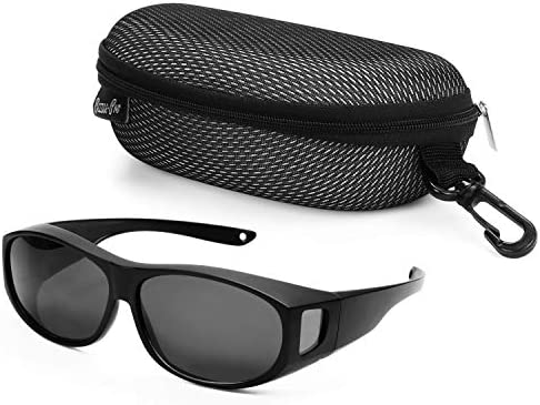 LVIOE Unisex Polarisiert Sonnenbrille Brille /Überbrille f/ür Brillentr/äger Fit-over Polbrille f/ür Herren und Damen 100/% UVA UVB Schutz