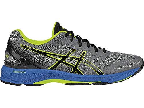 ASICS Men's Gel-DS Trainer 22 Running Shoe, Carbon/Black/Safety Yellow, 6 M US
