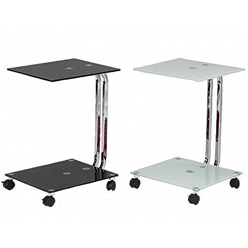 Tischchen mit rollen cheap full size of glas rollen und - Mesitas auxiliares de cristal ...