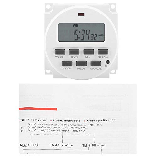 (Garosa Electric Digital LCD Programmable Timer Relay Electronic Time Control Smart Control Switch Timer for Street Lamp Neon Bulb Advertising Sign Lamp (110V))