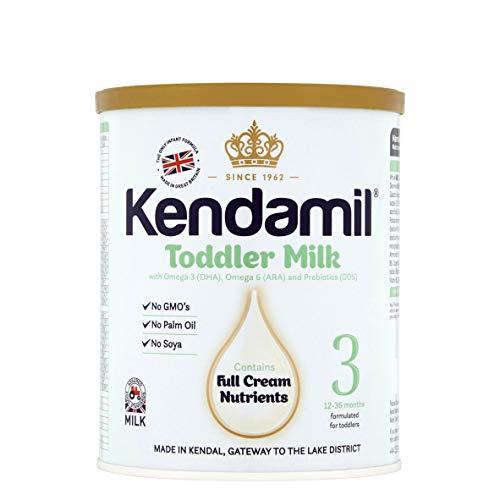 Kendamil Toddler Milk, Stage 3 – British Made, Whole Milk Formula, 12-36 Months – Vegetarian, No Palm Oil, No GMOs – with Omega 3 DHA, Omega 6 ARA and Prebiotics (400g)