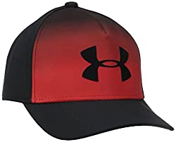 Under Armour Boys' Striped Cap, Black (001), Small/Medium