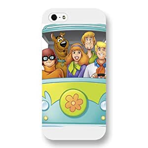 UniqueBox Scooby Doo Custom Phone Case for iPhone 5 5S, DC comics Scooby Doo Customized iPhone 5 5S Case, Only Fit for Apple iPhone 5 5S (White Frosted Shell)