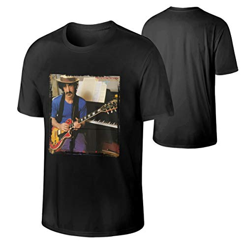 Frank Zappa Shut Up 'n Play Yer Guitar Men's Classic Sports Round Neck Short Sleeve T-Shirt 4XL Black
