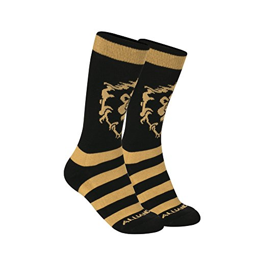 JINX World of Warcraft Alliance Core Embroidered Athletic Crew Socks, 1 Pair