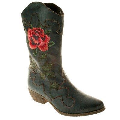 Spring Step Cheyenne Women's Navy Leather Boot 36 M EU ()