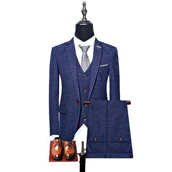 wholesale dealer e17aa f67f0 YHNSXZ Anzug,Anzugjacken,(Jacke + Hose + Weste) Mode Männer ...