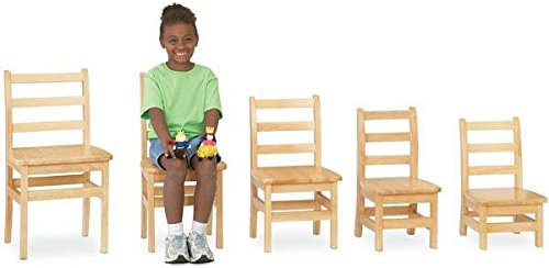 Jonti-Craft 5912JC2 KYDZ Ladder Back Chair Pair, 12'' Height by Jonti-Craft