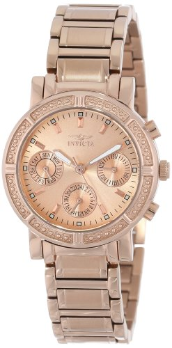 - Invicta Women's 14874 Wildflower Rose Gold Dial 18k Rose Gold Ion-Plated Stainless Steel Watch