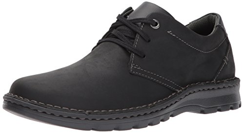 Clarks Men's Vanek Plain Loafer, Black Leather, 9.5 Medium US