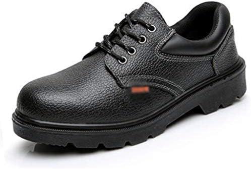 安全靴 安全靴、通気性、防水性、安全作業、レース、つま先つま先付き、アンチスマッシング、アンチハイキング安全 安全靴 スニーカー (Size : 44)