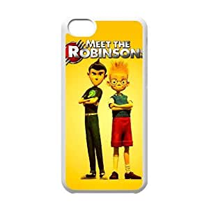 Generic for iPhone 5c Cell Phone Case White Meet the Robinsons Custom HLFFKDOFS3557