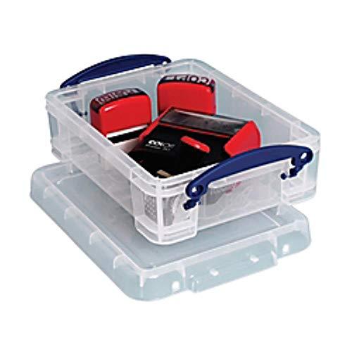 - 636643 Really Useful Box Plastic Storage Box, 1.75 Liters, 9 1/2