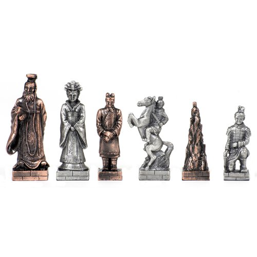 WE Games Chinese Qin Chessmen - Pewter by Wood Expressions
