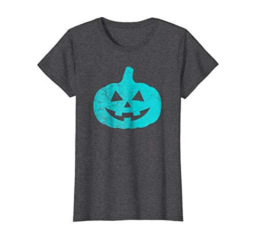 Womens Halloween Teal Pumpkin Shirt Allergy Awareness T-shirt XL Dark Heather