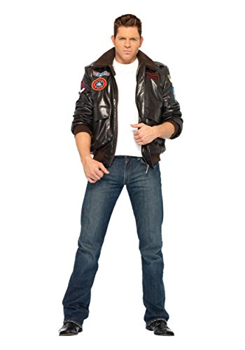 Maverick Top Gun Costumes - Leg Avenue LATG83703-L Mens Top Gun Bomber Jacket LARGE